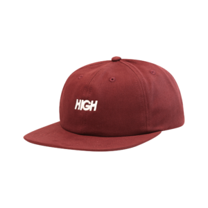 High Company 6 Panel Logo Burgundy