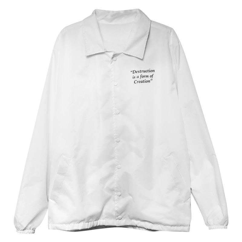 High Company Costas Coach Jacket Destruction White