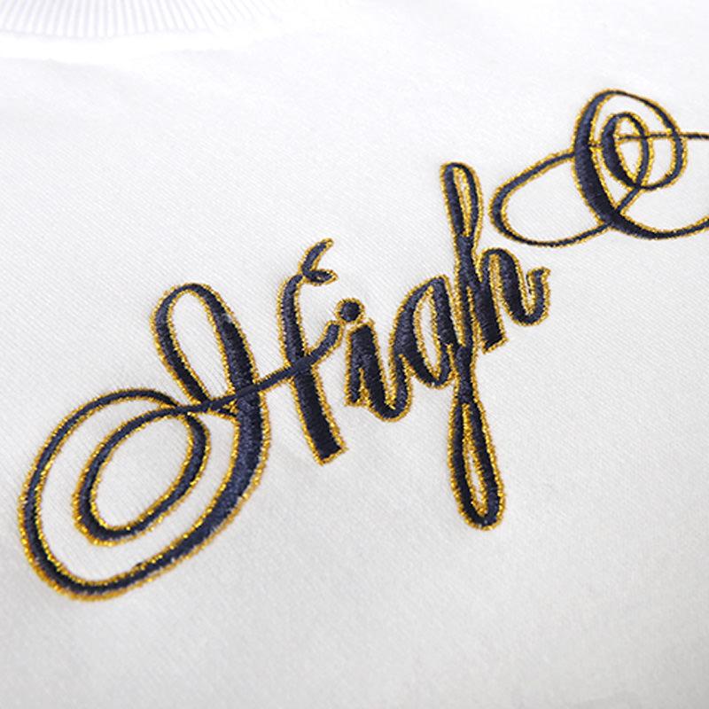 High Company Sweatshirt Spaghetti White