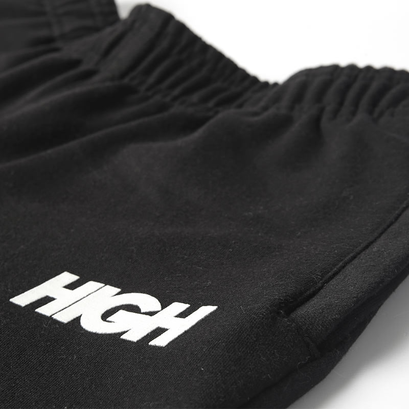High Company Sweatpants Logo Black White