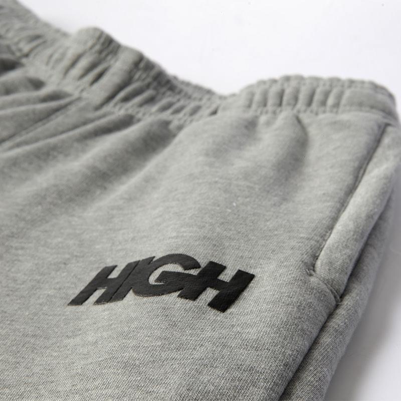 High Company Sweatpants Logo Gray Black