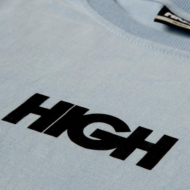 High Company Longsleeve Logo Light Blue Black