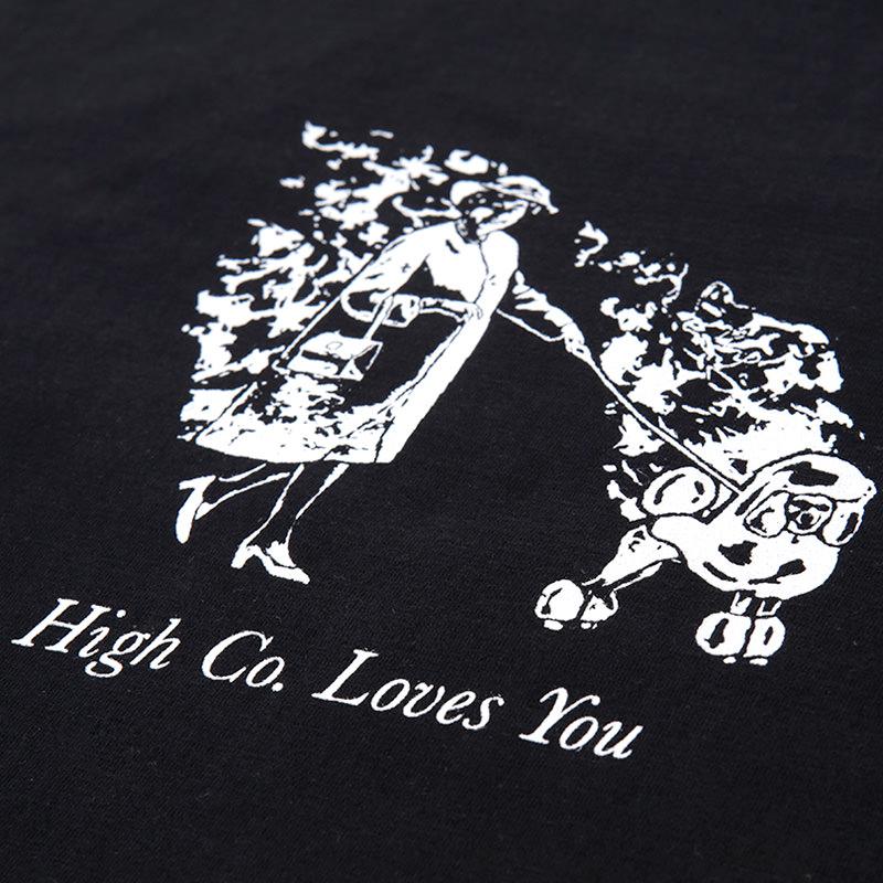 High Company Tee-Burn-Black