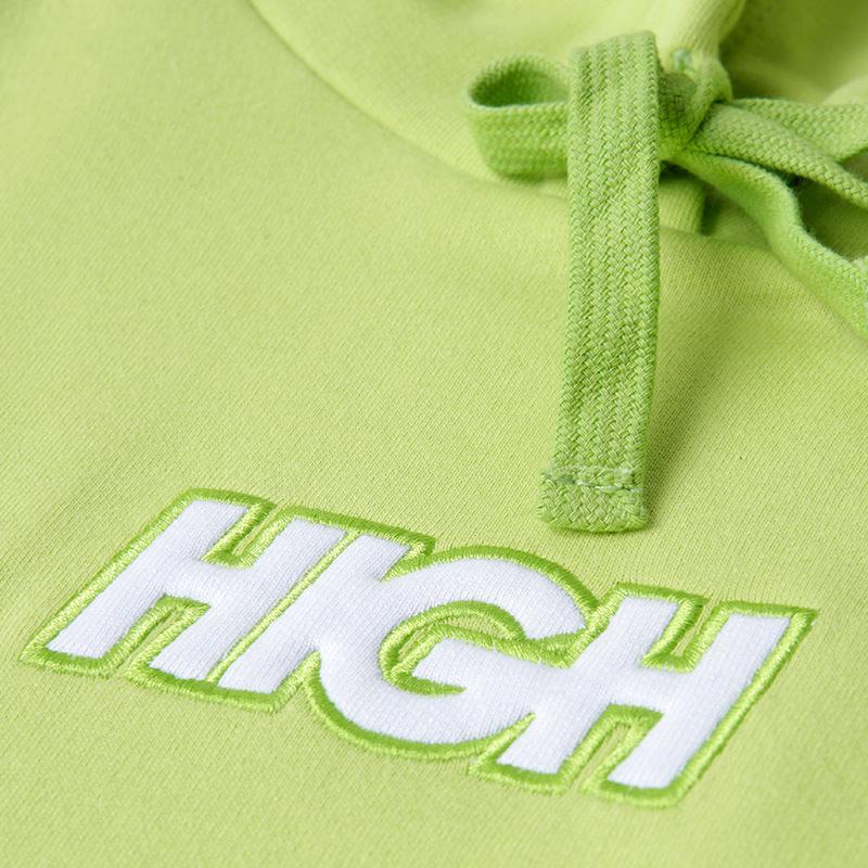 High Company Hoodie-Logo-Lime-White